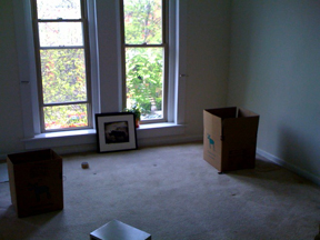 Why does my apartment feel smaller with nothing in it?
