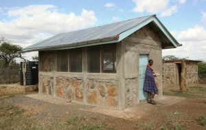 AWF built the Kuku House for the women's chickens.
