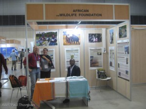AWF's booth at the IUCN World Conservation Congress in Barcelona.