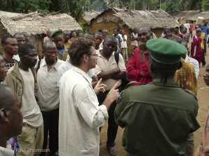 Jef and team dealing another sticky situation in the DR Congo - about 50 angry men.
