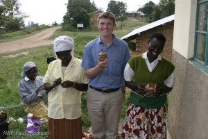 Me with a couple ladies from the Nkurungo Artisans group. Their baskets are amazing!
