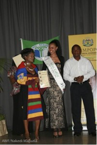 Miss Earth South Africa was here to honor the learners.
