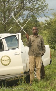 Dr. Philip Muruthi checks out my radio antennae.