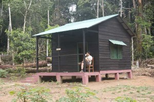 One of the cabins in which researchers and visitors can stay while at LCSC.