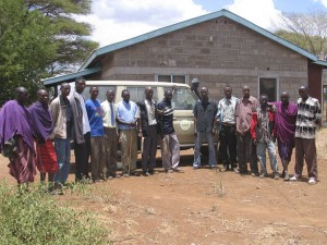 The Kilitome community scouts we trained near Amboseli.