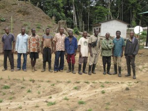 The crew of Lomako Conservation Science Centre.