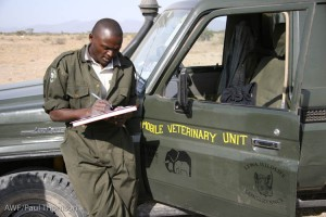 Wildlife vet, Dr. Stephen Chege