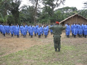 Lomako Guards being trained.